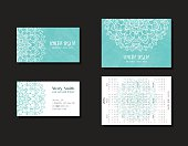 Set of corporate business cards and calendars