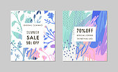 Set of creative Social Media Sale headers or banners