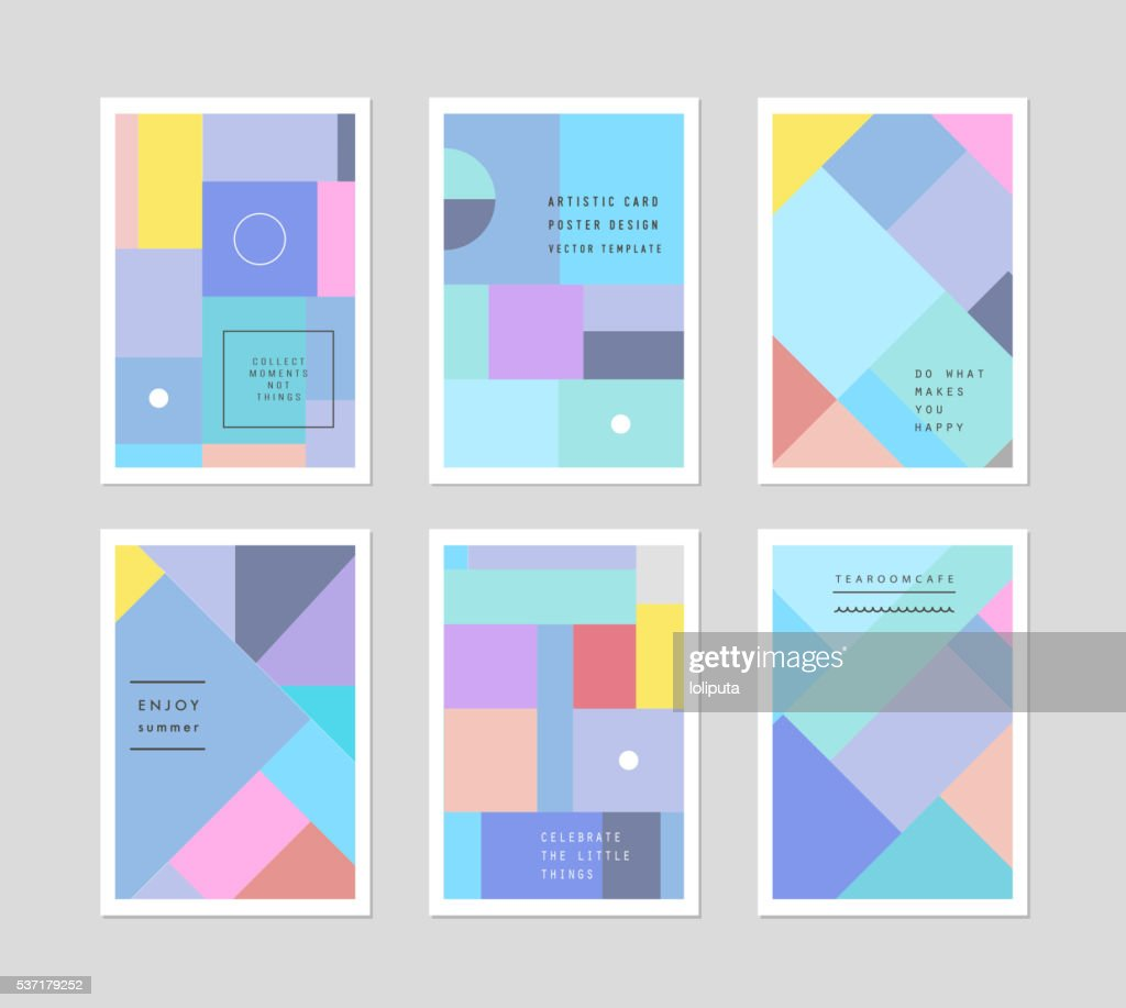 Set of creative universal cards. Design for poster, card