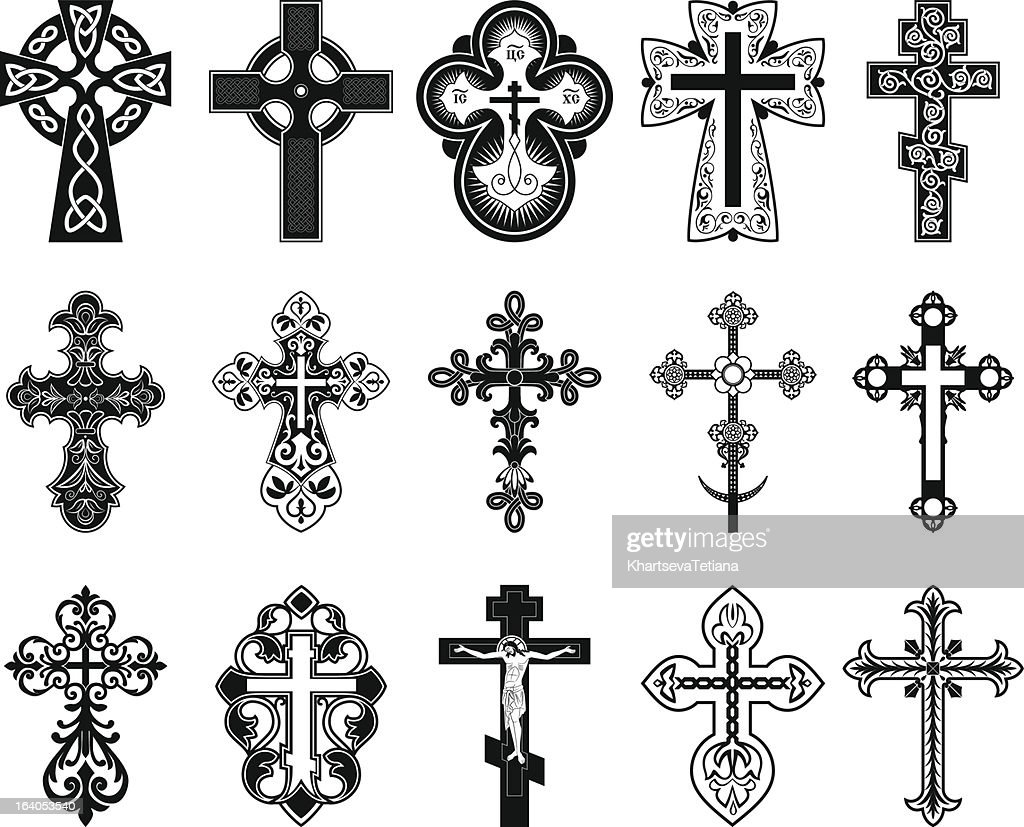 Set of crosses.