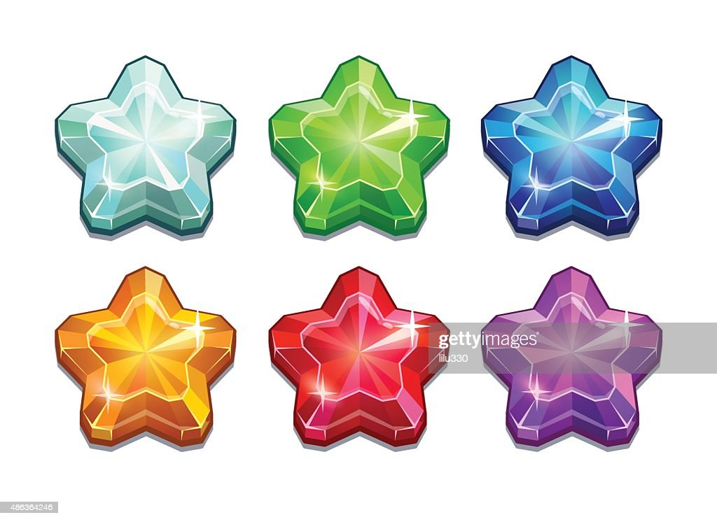 Set of crystal stars