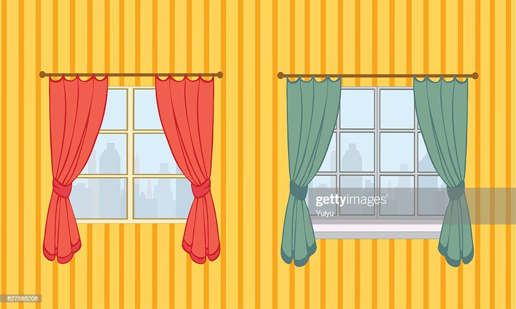 Set of curtains in two variants