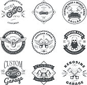 Set of Custom Car and Bike Garage Label and Badge