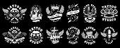 Set of custom tattoo designs (for dark background)