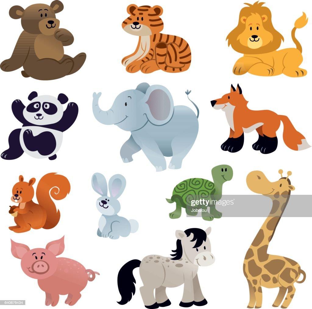 Set of Cute animals : stock illustration