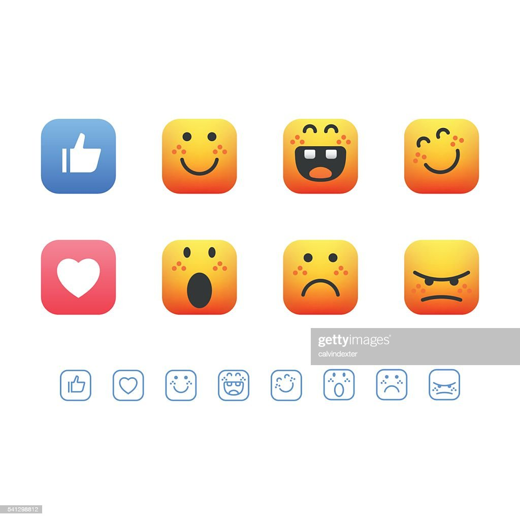Set of cute emoticons