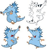 Set of cute fairy tale creature for you design. Cartoon