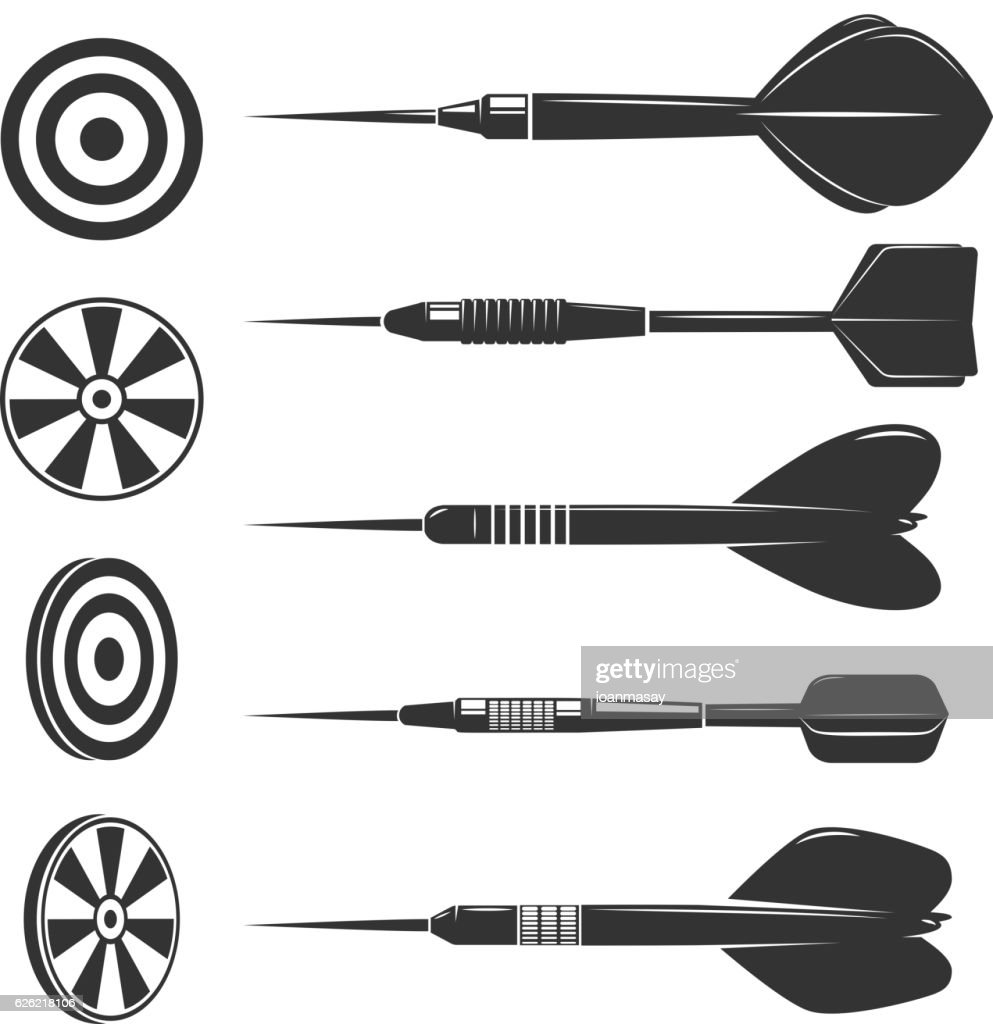Set of darts for darts game.
