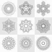 Set of decorative design elements. Vector illustration