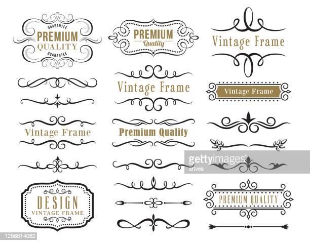 ilustrações, clipart, desenhos animados e ícones de conjunto de elementos decorativos para design - fora de moda estilo