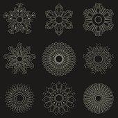 Set of decorative elements. Vector illustration