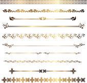 set of decorative rulings