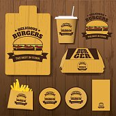 Set of Delicious Burgers Corporate identity