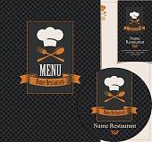 Set of design elements for a cafe or restaurant