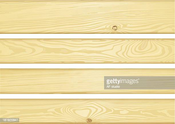 Set of detailed wood boards