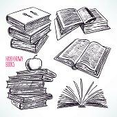 Set of different books