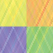 Set of Different Colored Diagonal Ornaments