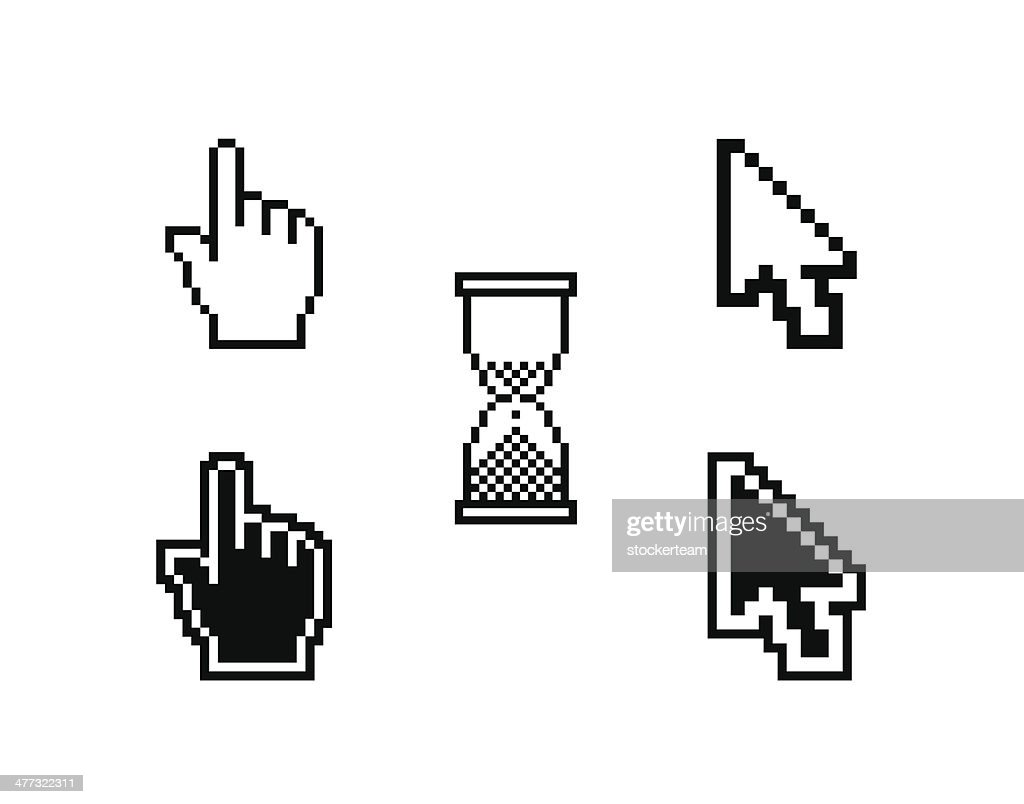 set of different cursors