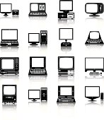 Set of different desktop computer icons