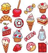 set of different desserts