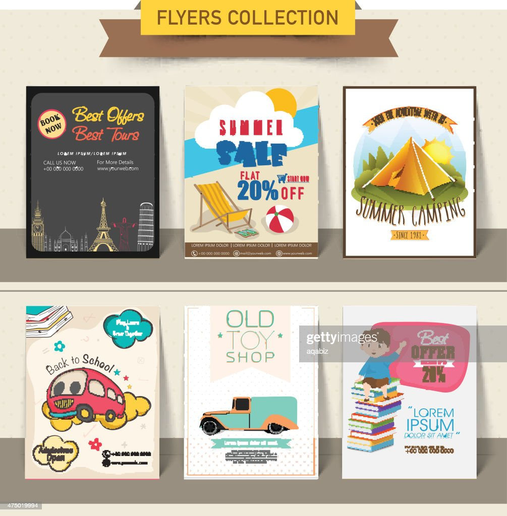 Set of different flyers for business purpose.
