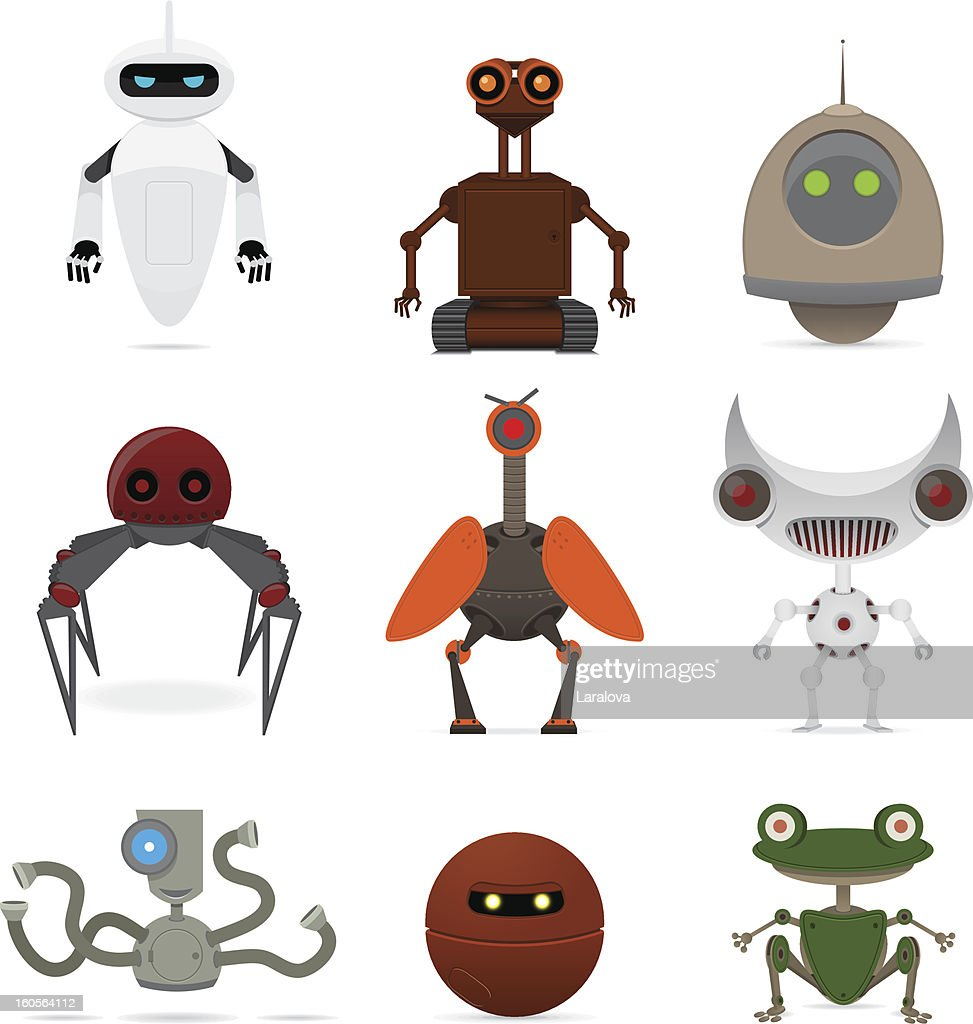 Set of different robots