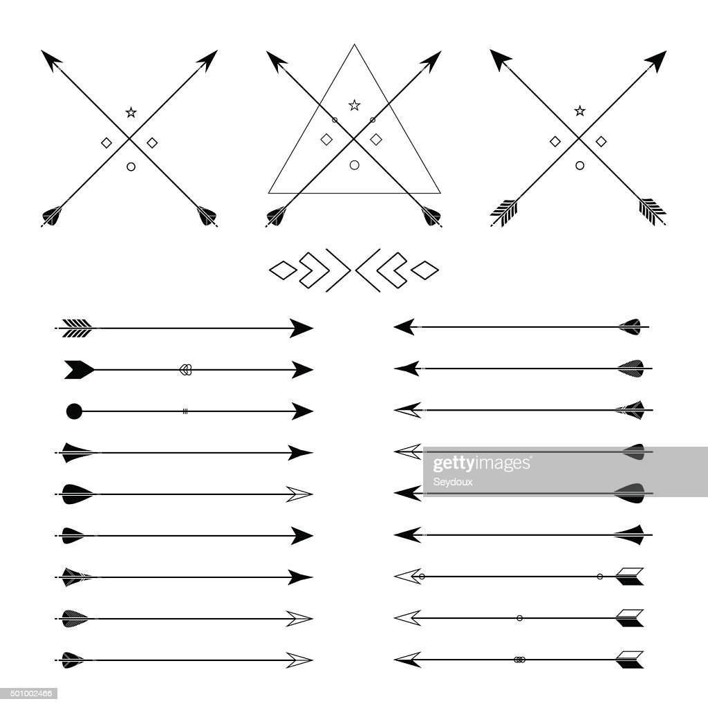 Set of different vector arrows