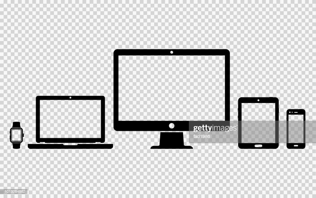 Set of digital devices icons