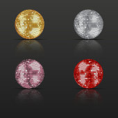 Set of disco balls