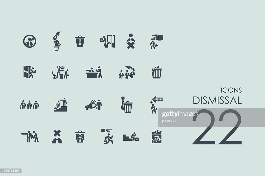 Set of dismissal icons