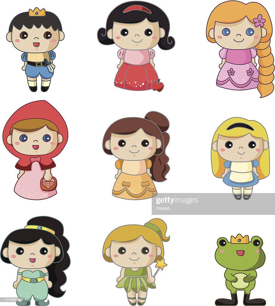 Set of Disney cartoons characters