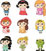 Set of Disney cartoons characters