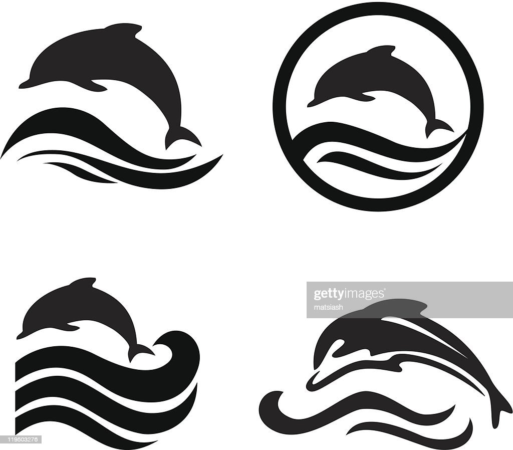 Set of dolphins.