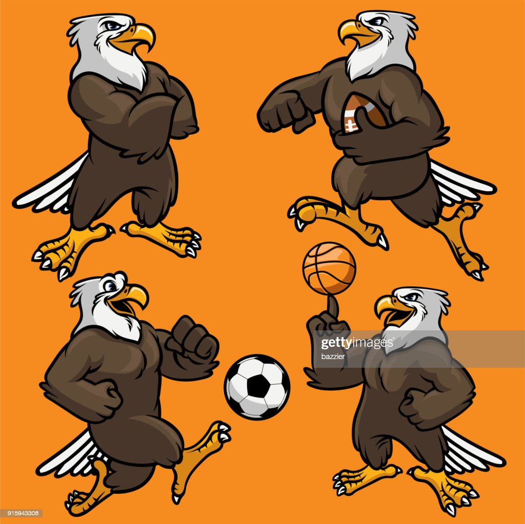 set of eagle sport mascot