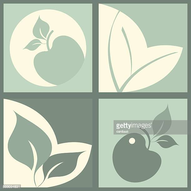 set of eco icon