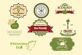 Set of eco icons.