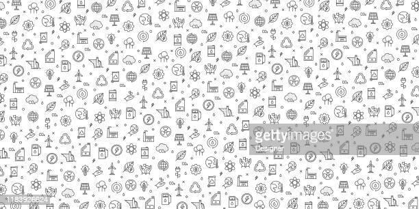 ilustraciones, imágenes clip art, dibujos animados e iconos de stock de conjunto de ecología e iconos de energía verde diseño de patrones vectoriales - ecosistema