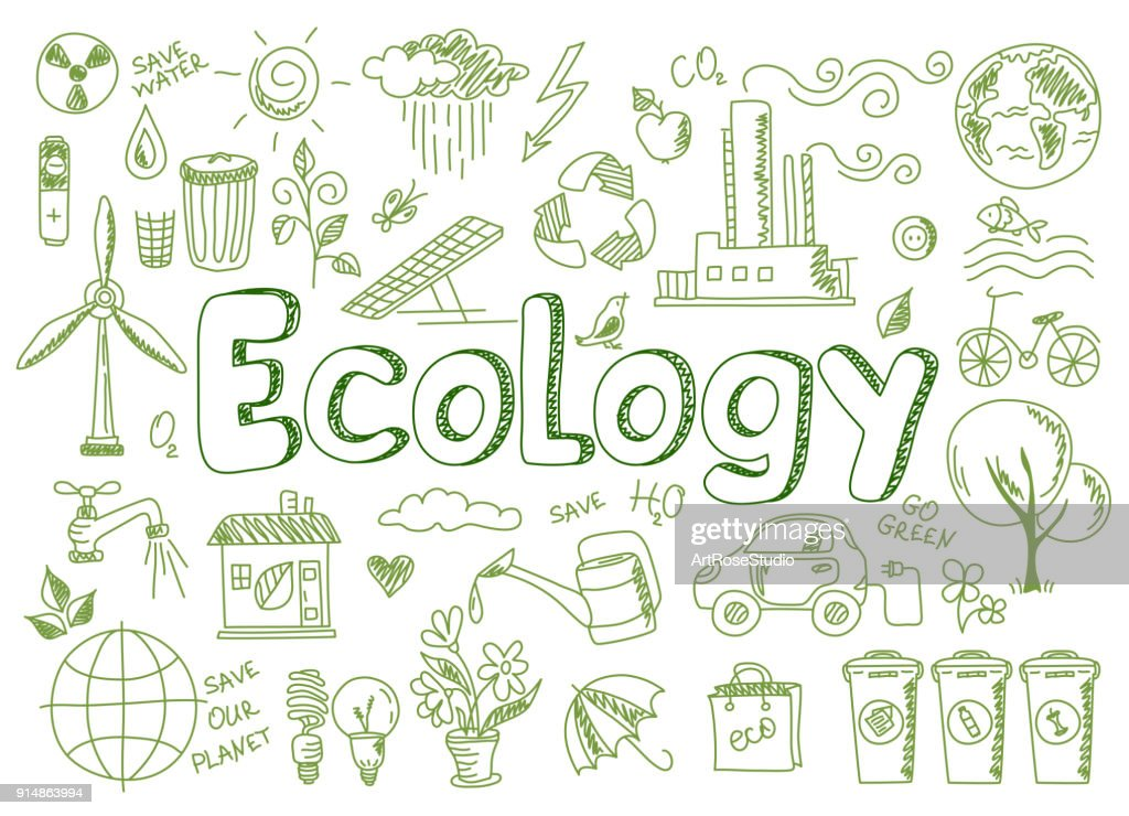 Set of ecology, ecology problem and green energy