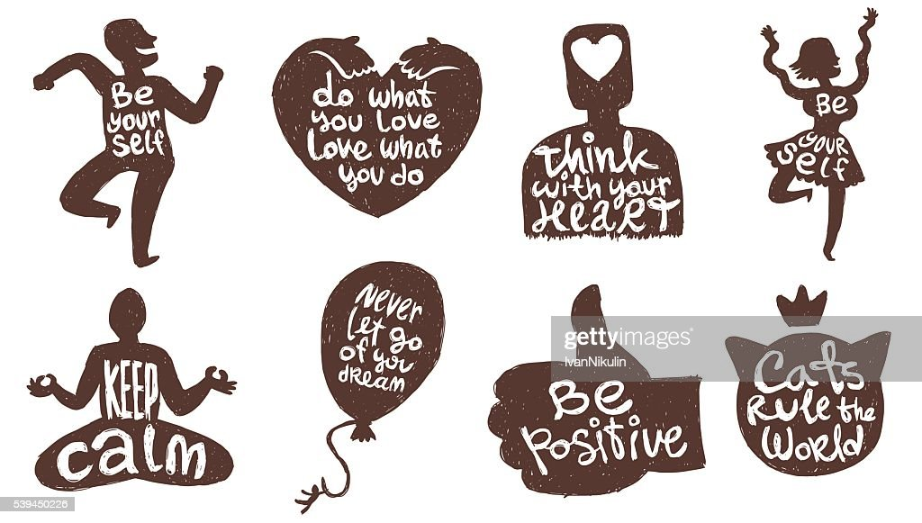 Set of eight motivational cards