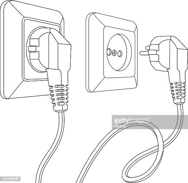 set of electric sockets and plugs