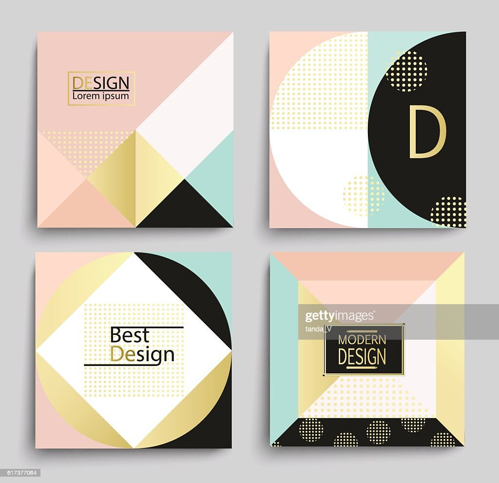 set of elegant geometric banner template design ベクトルアート