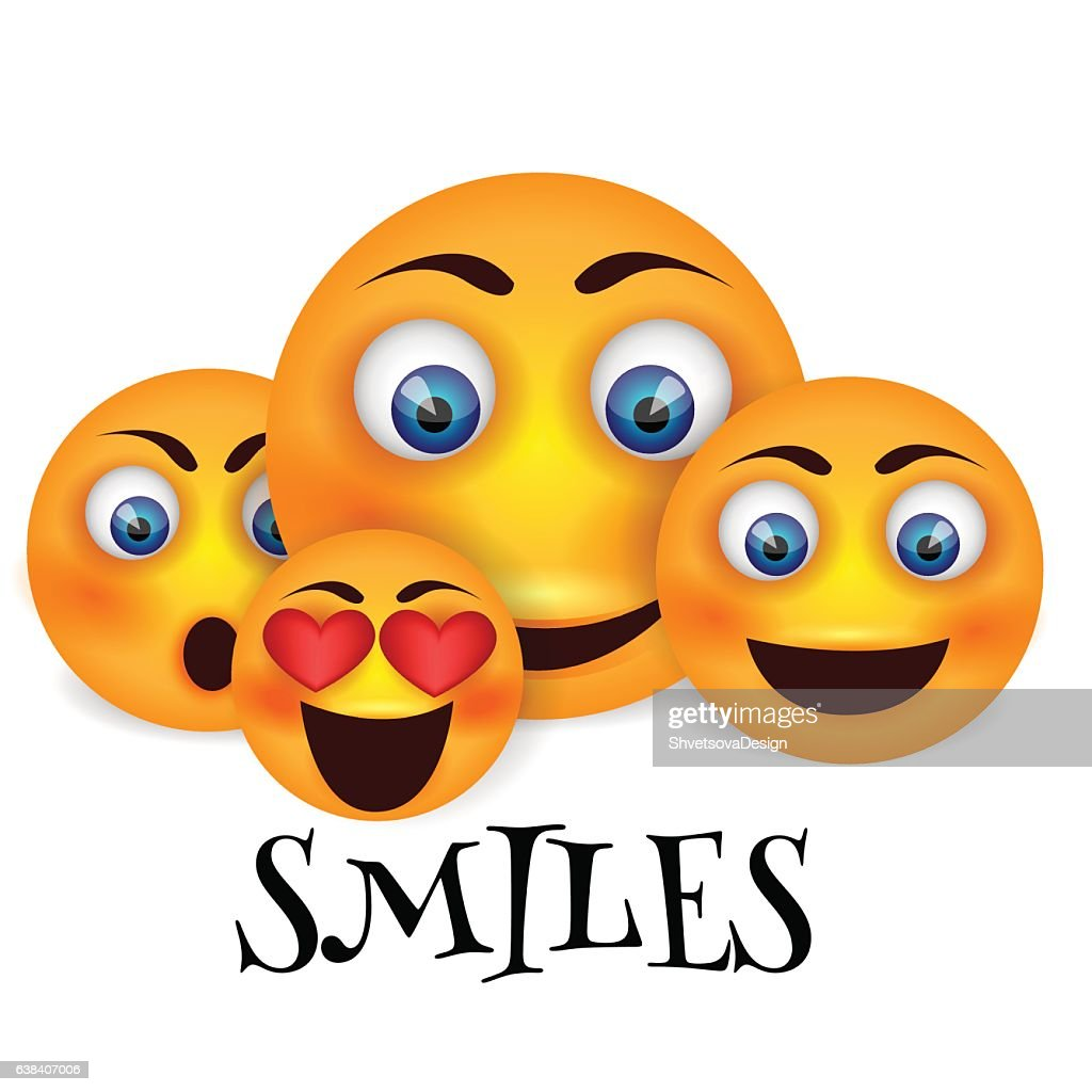 Set of Emoticons. Emoji.