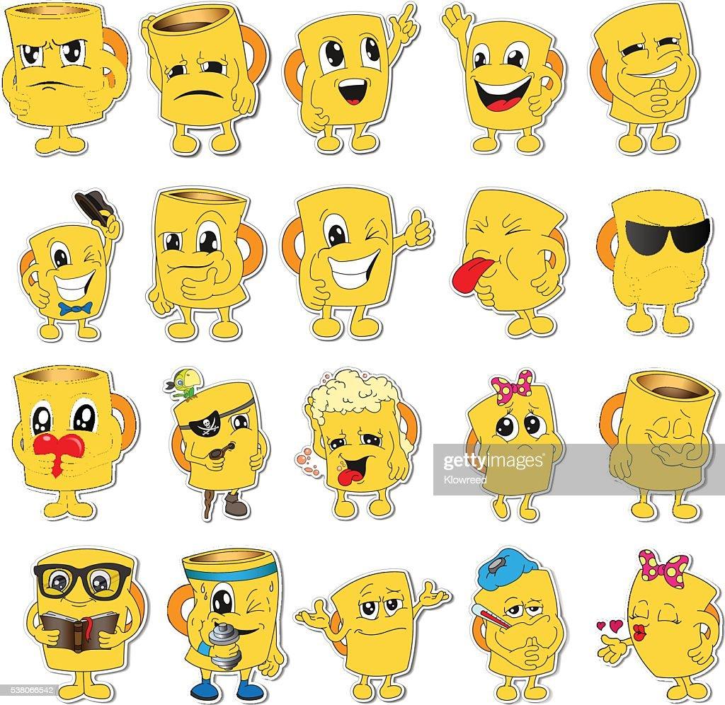 Set of Emoticons. Set of Emoji. Smile icons.