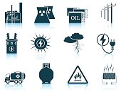 Set of energy icons.