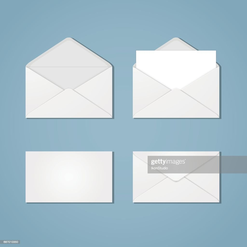 Set of envelope forms
