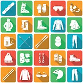 Set of equipment for winter sports