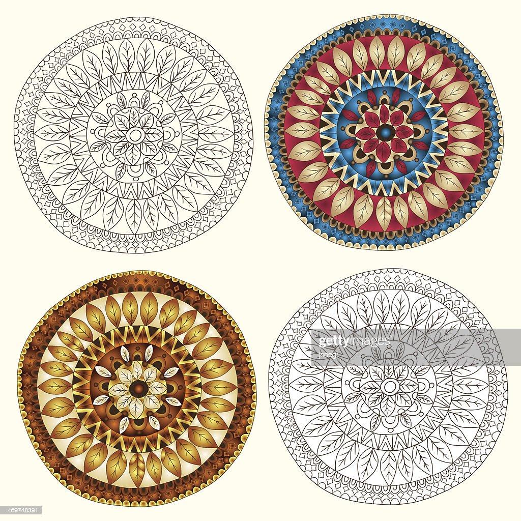 Set of ethnic design element.