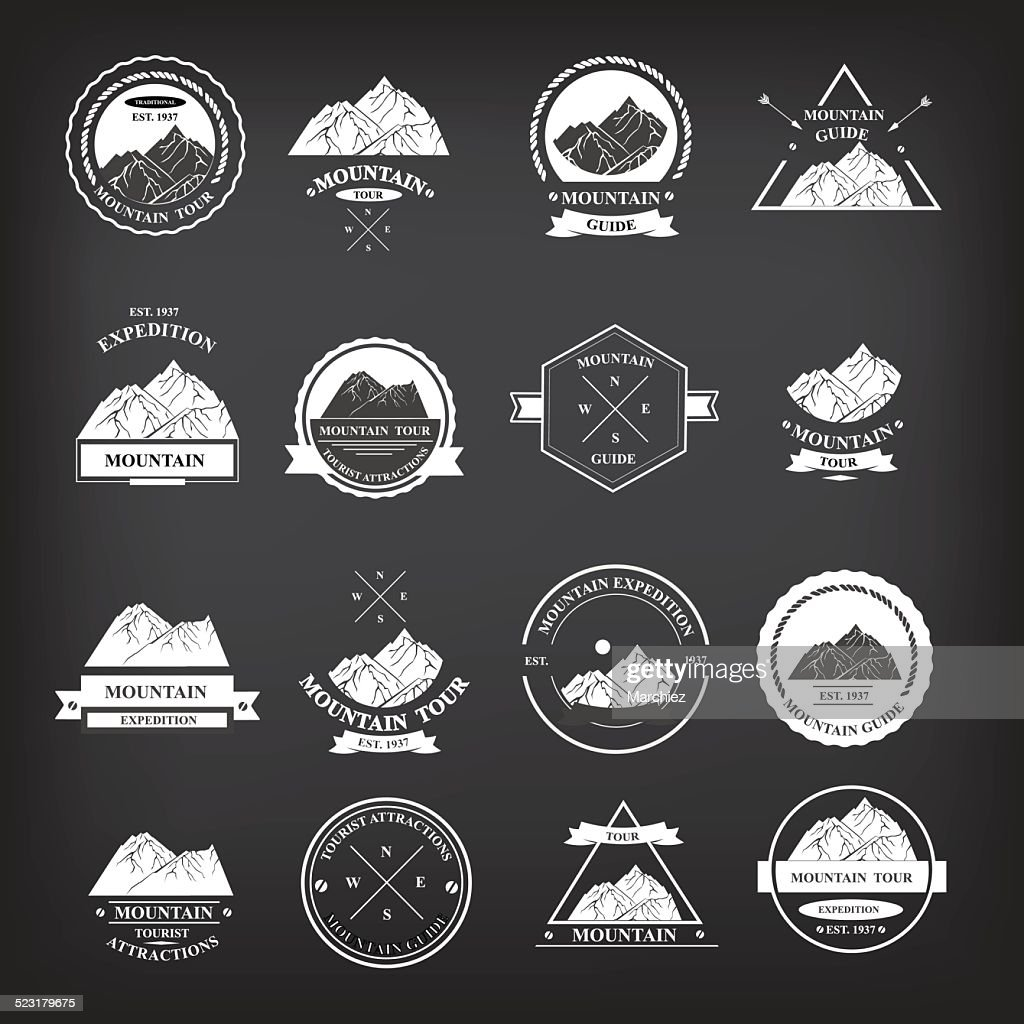 Set of expedition badges.