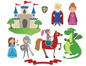 Set of fairy tale character