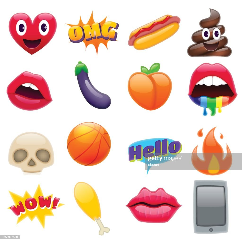 Set of Fantastic Smiley Emoticons Emoji Design Set